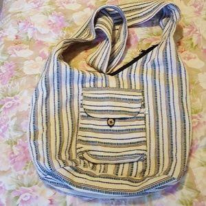 EUC cotton cross body bag